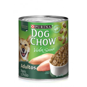 DOG CHOW ADULTO LATA X 374 GR. PAVO / POLLO