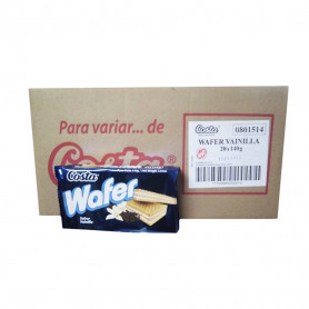 COSTA WAFER X 140 GR. VAINILLA X 28 UN