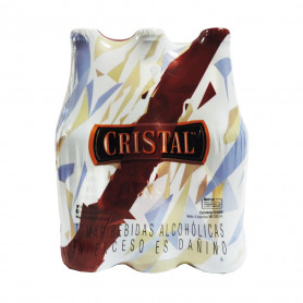 CERVEZA CRISTAL BOTELLA X 330 ML. SIX PACK
