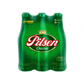 CERVEZA PILSEN BT X 310 ML SIX PACK