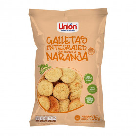 UNION GALLETA MEGA INTEG. DE NARANJA X 195 GR.