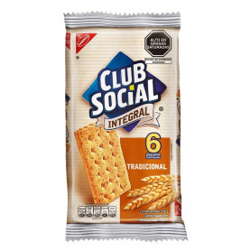 CLUB SOCIAL GALLETAS X 156 GR. SIX PACK INTEGRAL