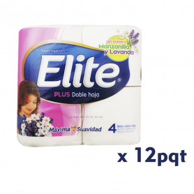 P.H. ELITE PLUS DOBLE HOJA X 4 UN. X 12 (MANZANILLA)