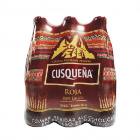 CERVEZA CUSQUEÑA BOT RED LAGER X 330 ML SIX PACK